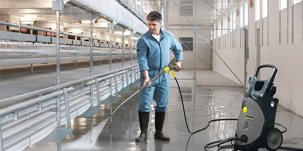 cleaning premises