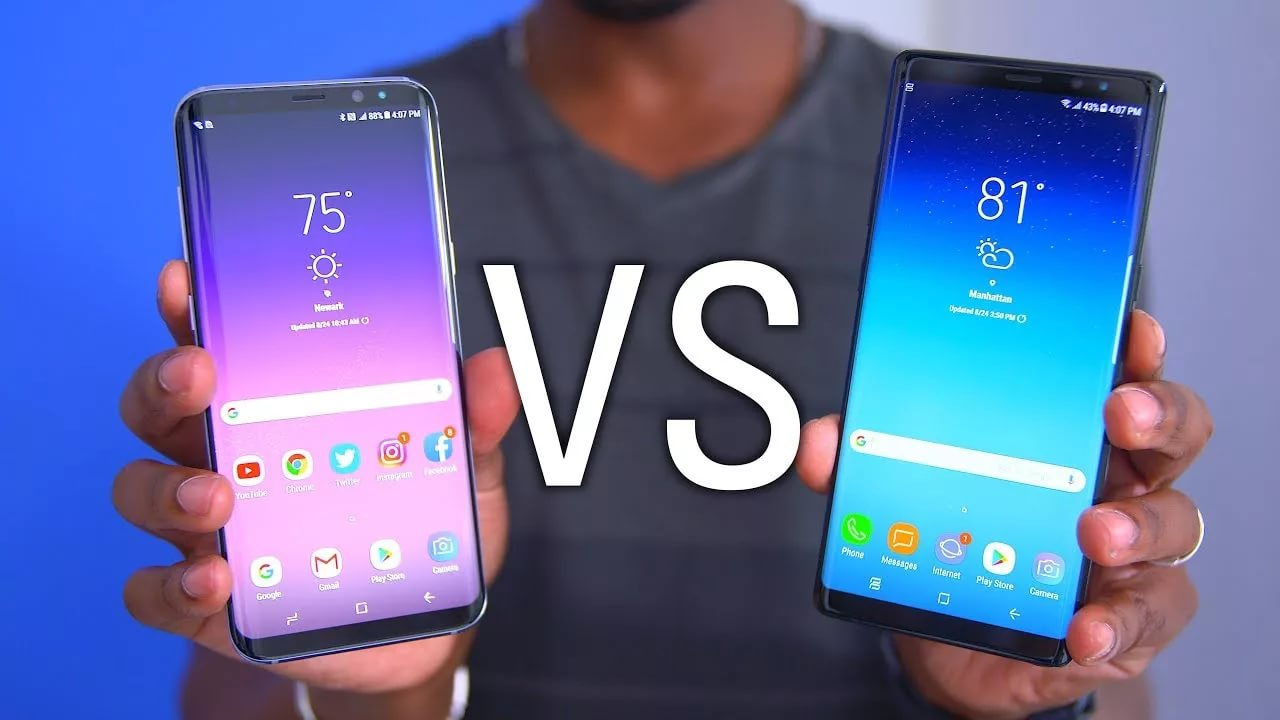 Samsung Galaxy Note 8 vs. GALAXY S8