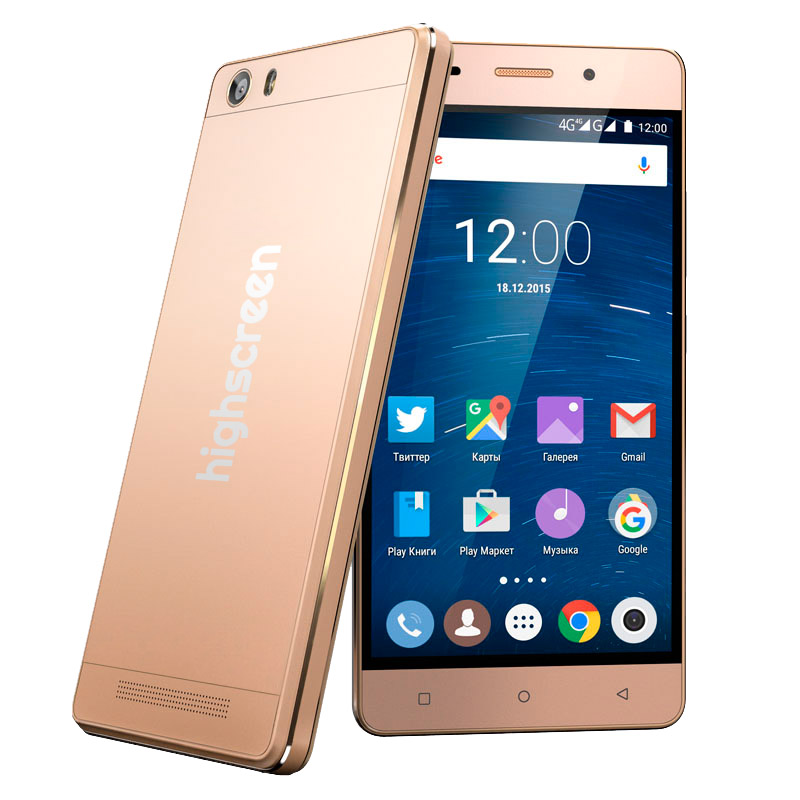 внешний вид телефона Highscreen Power Ice Gold