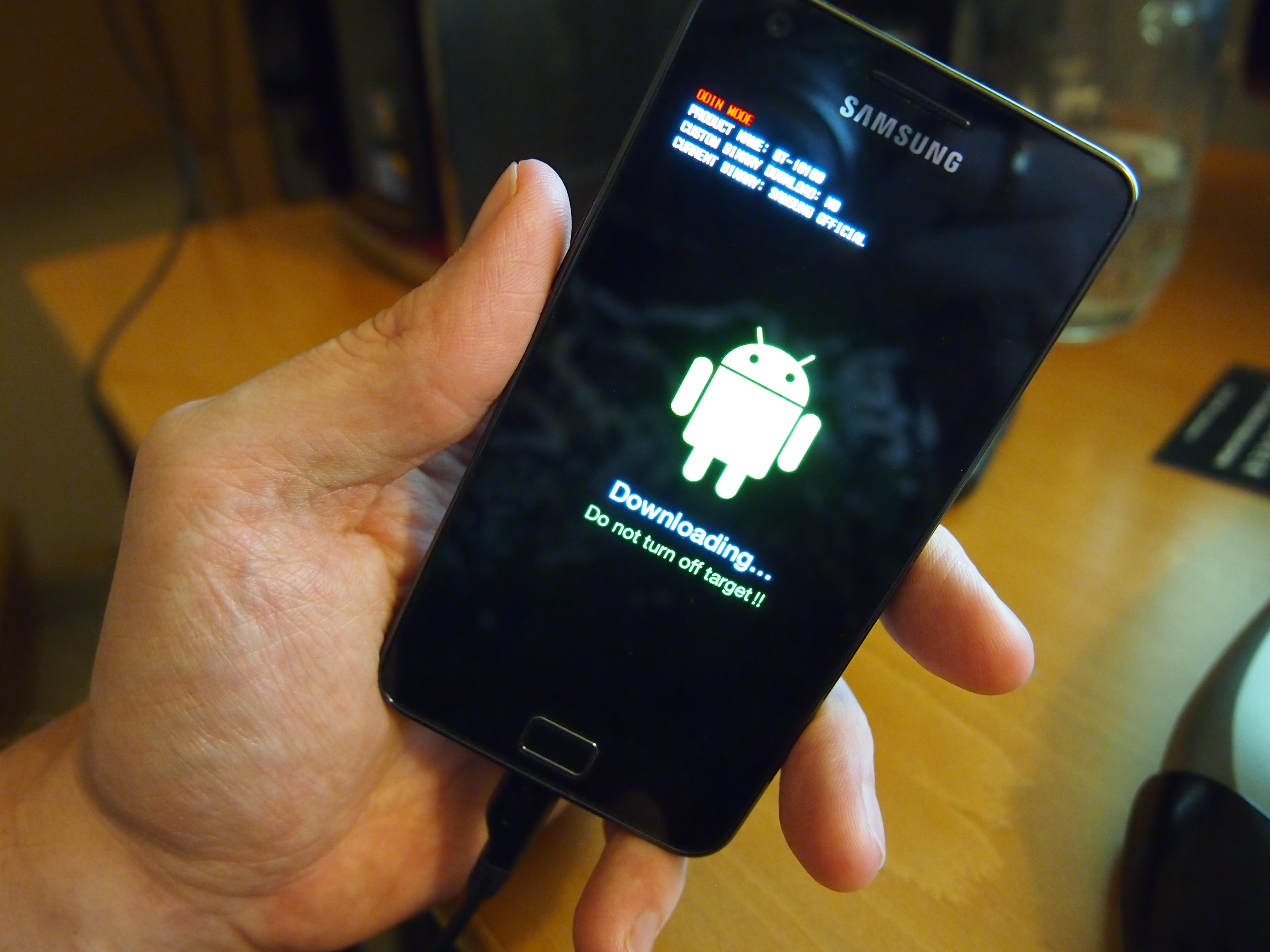flash phone Samsung Galaxy 3