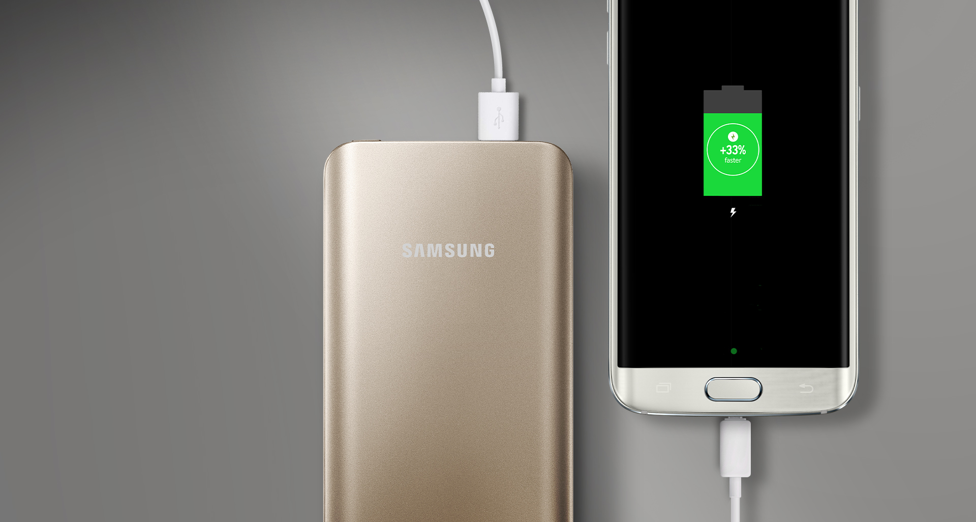 logo charge a Samsung Galaxy smartphone battery