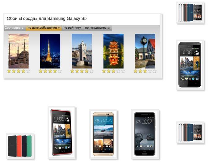 Wallpaper phone HTC