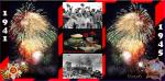 Picture postcard mms Военная фляжка, хлеб, фотографии с войны, салют и надпись — 1941 — 1945 Вечная Память... happy birthday