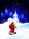 animated picture postcard mms Santa Claus with gifts