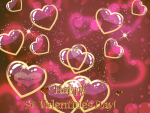 Picture postcard mms Надпись Happy St Valentines Day happy birthday
