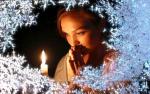 Picture postcard mms свеча, женщина, вокруг иней happy birthday