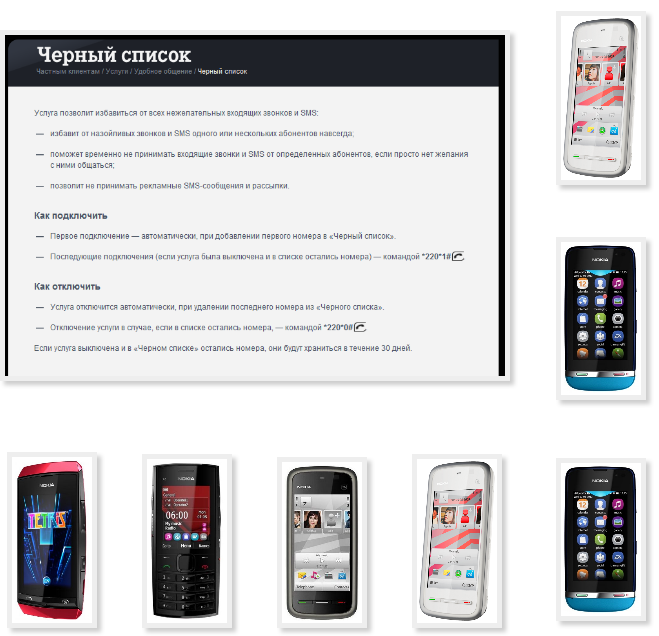 Add phone Nokia blacklist Tele2