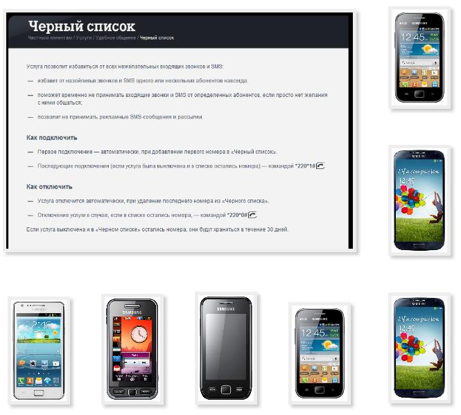 Add phone Samsung blacklist Tele2