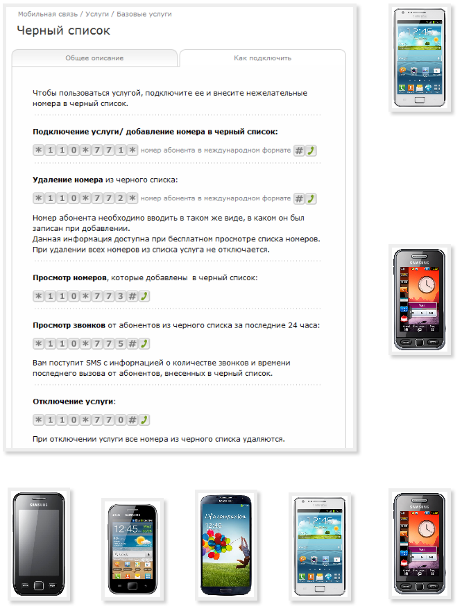 Make phone Samsung black list Beeline