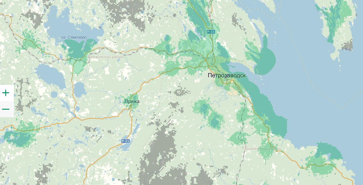 megaphone coverage map of karelia