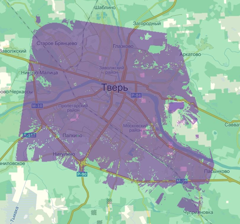 megaphone coverage map tver region