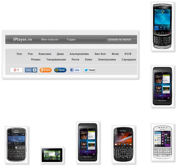 Громкие звонки на телефон Blackberry 9900 Pearl 3G 9105