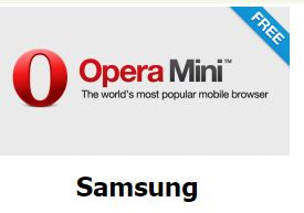 download free opera on phone Samsung
