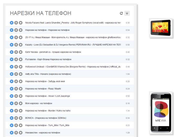 Скачать короткие мр3 мелодии на телефон русские