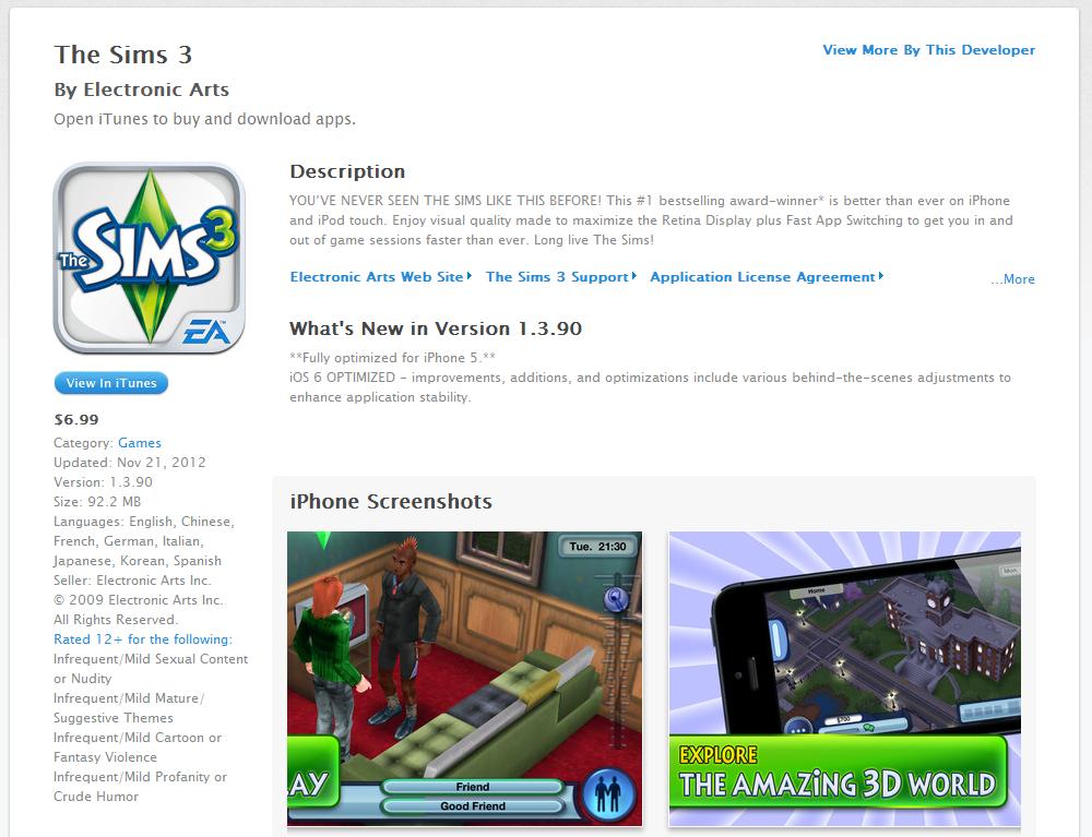 Cims 3 download Apple phone
