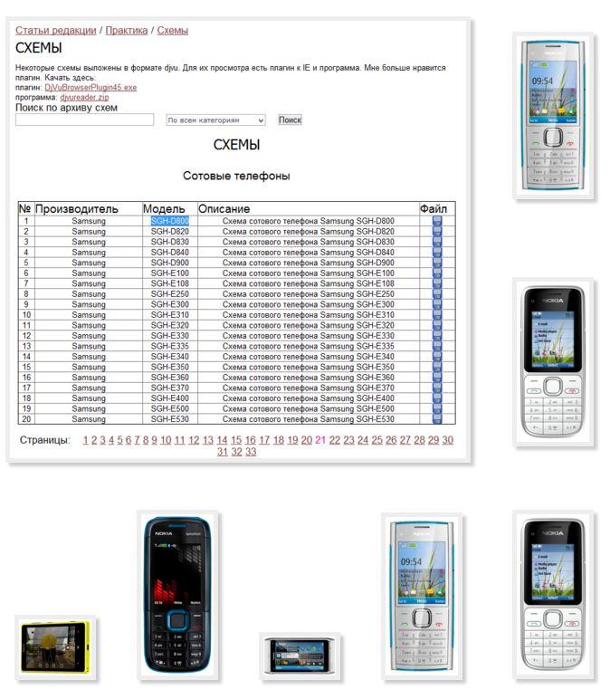 Схема сотового телефона нокиа фото 864