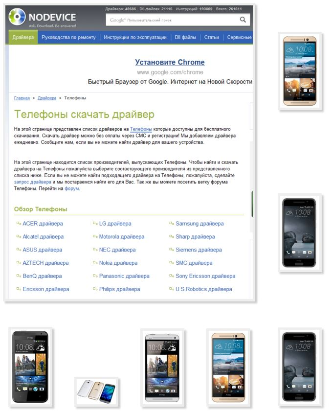 Download free driver different mobile phones HTC with your computer