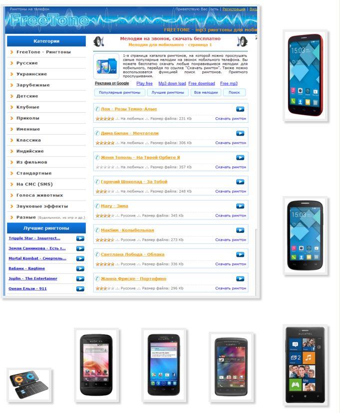 Мр3 рингтоны для мобильных скачать бесплатно