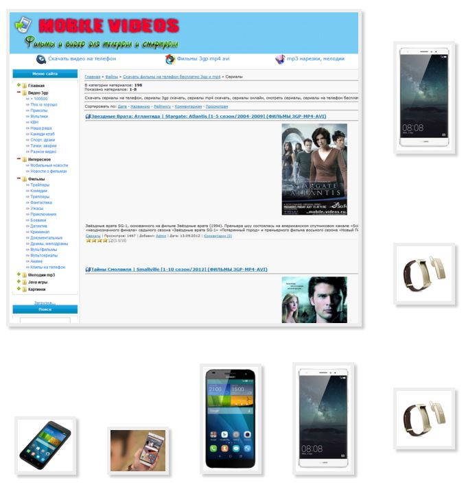 Popular series mp4 format phone Huawei