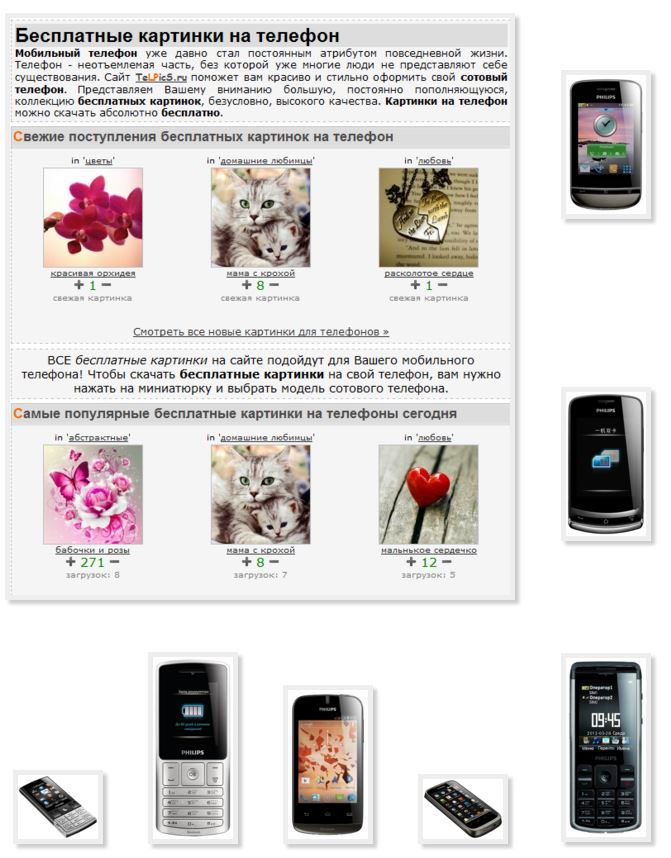 Pictures phone Philips free