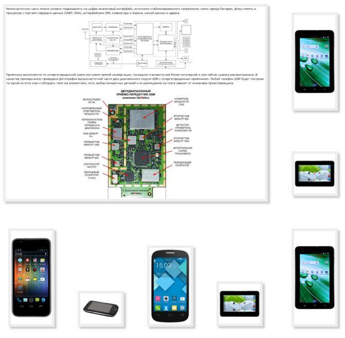 Схема планшета optima