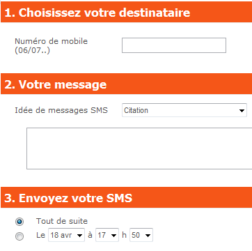 Send an sms to a computer for free Smsgratuit - France
