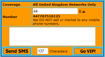 Send an sms to a computer for free CBFSMS - United_Kingdom