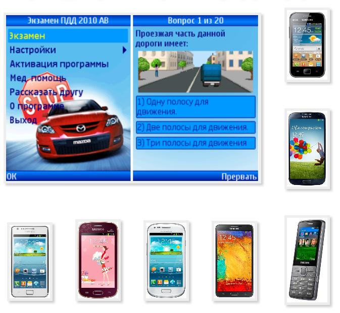 Java version of the SDA on the phone Samsung